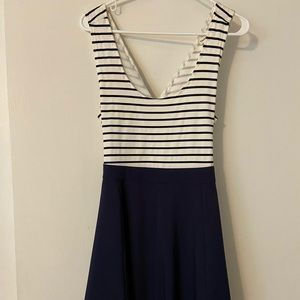 Blue and White Striped Dress!